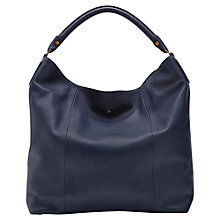 Buy Joules Hampsted Leather Shoulder Bag, Navy Online at johnlewis.com