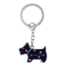 Buy Radley Autumn Rose Keyring, Navy/Multi Online at johnlewis.com