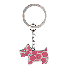 Buy Radley Spot On Keyring, Pink Online at johnlewis.com