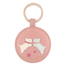 Buy Radley Puppy Love Leather Keyring, Pink Online at johnlewis.com
