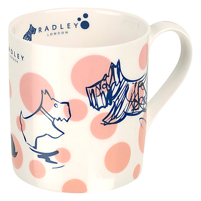 Radley Cherry Blossom Dog Mug, Pink