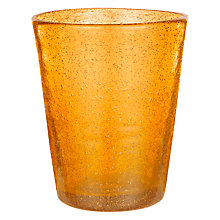Buy John Lewis Handmade Tumbler, Small, Light Orange Online at johnlewis.com