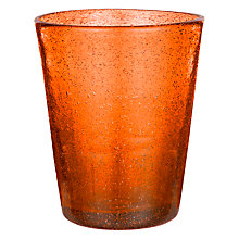 Buy John Lewis Handmade Tumbler, Small, Dark Orange Online at johnlewis.com