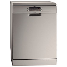 Buy AEG F67732M0P Freestanding Dishwasher, Stainless Steel Online at johnlewis.com