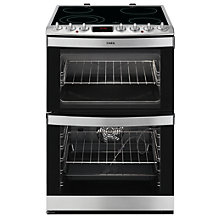 Buy AEG 43172V-MN Freestanding Electric Cooker, Stainless Steel Online at johnlewis.com