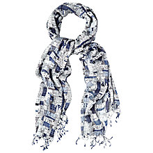 Buy White Stuff Houses Scarf, Blue Multi Online at johnlewis.com
