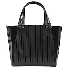 Buy Reiss Francine Leather Chain Detail Tote Bag, Black Online at johnlewis.com