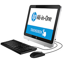 "Buy HP 22-2104na All-in-One Desktop PC, AMD A4, 6GB RAM, 1TB, 21.5"" Touch Screen, Silver Online at johnlewis.com"