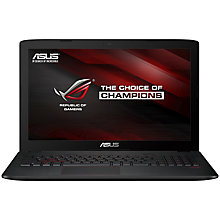 "Buy ASUS ROG GL552JX Laptop, Intel Core i7, 8GB RAM, 750GB + 128GB SSD, 15.6"", Blu-ray, Black Online at johnlewis.com"
