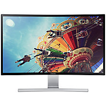 "Buy Samsung LS27D590C Curved Full HD LED PC Monitor with built-in speakers, 27"", Black Online at johnlewis.com"