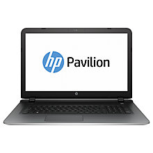 "Buy HP Pavilion 17-g015na Laptop, Intel Core i5, 8GB RAM, 1TB, 17.3"", Silver Online at johnlewis.com"