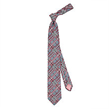 Buy Thomas Pink Haldane Check Woven Silk Tie, Navy/Red Online at johnlewis.com