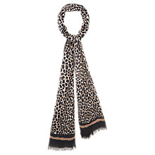 Buy Viyella Animal Print Scarf, Natural Online at johnlewis.com