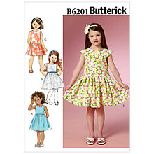 Buy Butterick Girls' Flared Dress Sewing Pattern, 6201 Online at johnlewis.com