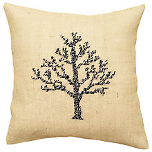 Buy Anette Eriksson Birch Tree Pillow Cover Embroidery Kit, Cream Online at johnlewis.com