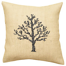 Buy Anette Eriksson Birch Tree Pillow Cover Half Cross Stitch Kit, Cream Online at johnlewis.com