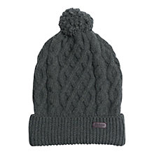 Buy Barbour Cable Knit Lambswool Beanie Online at johnlewis.com