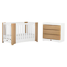 Buy Boori Dawn Cot Bed and Dresser Furniture Set, Beech/White Online at johnlewis.com