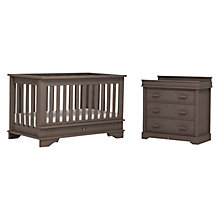 Buy Boori Eton Cot Bed and 3-Drawer Dresser Set, Mocha Online at johnlewis.com
