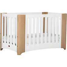 Buy Boori Dawn Cot Bed, Beech/White Online at johnlewis.com