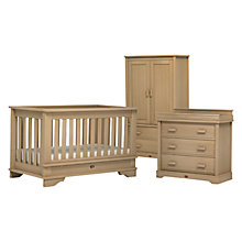 Buy Boori Eton Cot Bed, 3-Drawer Dresser and Wardrobe Set, Natural Online at johnlewis.com