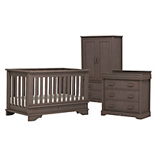 Buy Boori Eton Cot Bed, 3-Drawer Dresser and Wardrobe Set, Mocha Online at johnlewis.com
