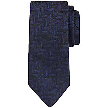 Buy Ted Baker Fetterz Silk Tie, Navy Online at johnlewis.com