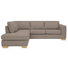Buy John Lewis Felix LHF Corner Chaise End Sofa, Bala Charcoal Online at johnlewis.com