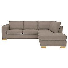 Buy John Lewis Felix RHF Corner Chaise End Sofa, Bala Charcoal Online at johnlewis.com