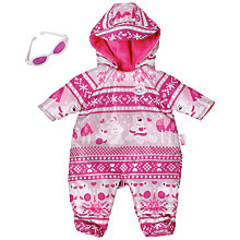 Buy BABY Born Deluxe Winter Jumpsuit Online at johnlewis.com