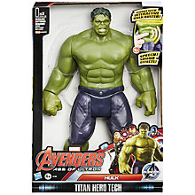 Buy The Avengers Titan Hero Tech Hulk Figure Online at johnlewis.com