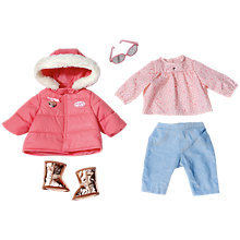 Buy Zapf BABY Born Winter Clothes Set Online at johnlewis.com