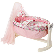 Buy Zapf Baby Annabell Rocking Cradle with Free Romper Suit Online at johnlewis.com