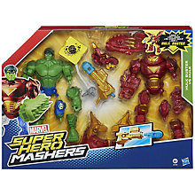 Buy The Avengers Super Hero Mashers Hulk Buster Vs Hulk Set Online at johnlewis.com