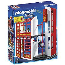 Buy Playmobil City Action Fire Station with Alarm Online at johnlewis.com