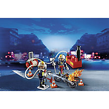 Buy Playmobil City Action Firefighters with Water Pump Online at johnlewis.com