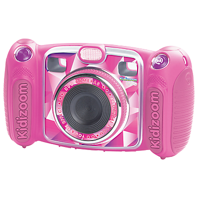 VTech Kidizoom Camera Pink Duo Digital Camera With 4GB SD Card, Pink