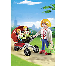 Buy Playmobil City Life Twin Pushchair Play Set Online at johnlewis.com
