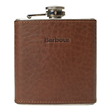 Buy Barbour Stainless Steel Hip Flask Gift Box Online at johnlewis.com