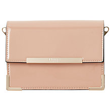 Buy Dune Enrika Patent Foldover Clutch Bag, Nude Online at johnlewis.com