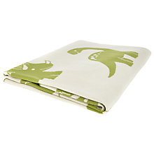 Buy John Lewis Dino Baby Pram Blanket, Green/White Online at johnlewis.com
