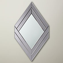 Buy John Lewis Hotel Diamond Wall Mirror, 104 x 60cm, Grey Online at johnlewis.com