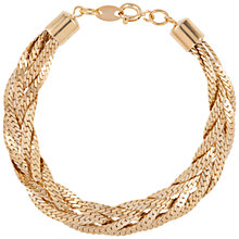 Buy Susan Caplan Vintage for John Lewis 1980s Gold Plated Plait Bracelet, Gold Online at johnlewis.com