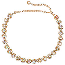 Buy Susan Caplan Vintage Bridal 1960s Kramer Gold Plated Swarovski Crystal Faux Pearl Flower Necklace, Pearl Online at johnlewis.com