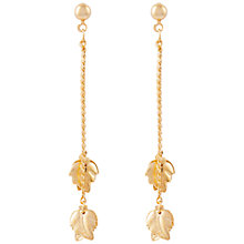 Buy Susan Caplan Vintage for John Lewis 1990s Gold Plated Leaf Earrings, Gold Online at johnlewis.com