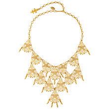 Buy Susan Caplan Vintage 1970s Vendome Gold Plated Bib Necklace, Gold Online at johnlewis.com