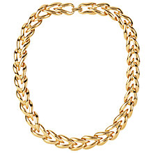 Buy Susan Caplan Vintage 1980s Napier Gold Plated Wishbone Necklace, Gold Online at johnlewis.com