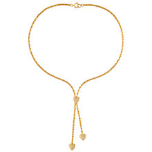 Buy Susan Caplan Vintage for John Lewis 1980s Gold Plated Heart Lariat Necklace, Gold Online at johnlewis.com