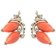 Buy Susan Caplan Vintage 1960s Lisner Faux Coral Earrings, Coral Online at johnlewis.com