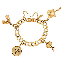 Buy Susan Caplan Vintage 1970s Monet Charm Bracelet, Gold Online at johnlewis.com